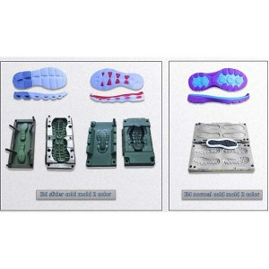 New Fashion Design for Two Colors Pvc Tpr Sole Molding Machine -