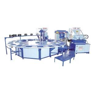 JIC720D Double Color PVC Air sèideadh Moulding Machine