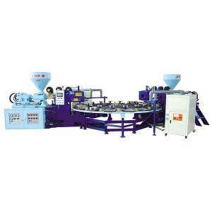 JIC12E2 dúas cores EVA fría Moldes Injection Molding machine