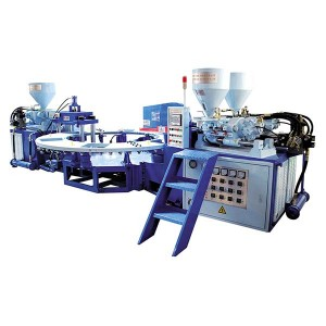 JIC506B PVC Three Color Upper and Strap Injection Machine