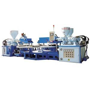 JIC806 PVC Three Color Upper and Strap Injection Machine