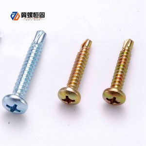 Self drilling screws with pan head