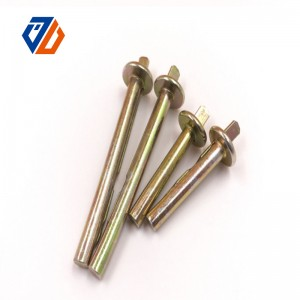 Original Factory M12 Dome Nut - 100% Original Steel Hex Connector Nut M6 Joint Nut Galvanized – Ji Luo Fastener