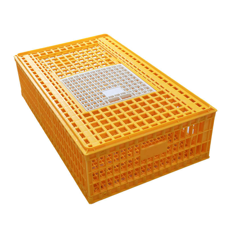 Poultry Plastic broiler chick duck live transport cage box chicken crate for sale