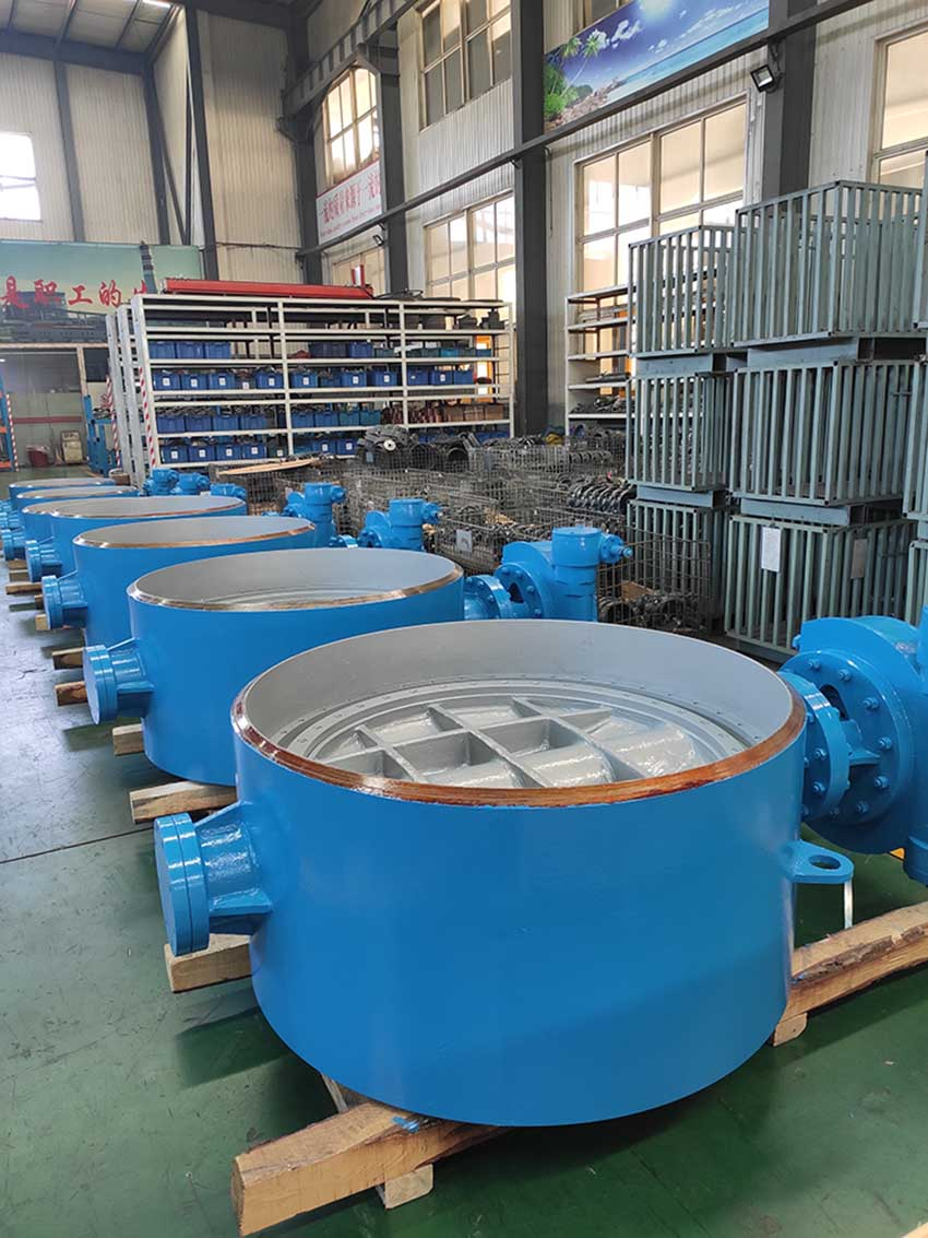 Delivery of welded ball valve and butterfly valve