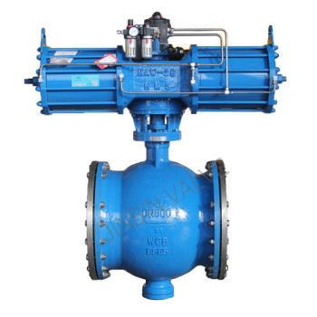 Pneumatic Eccentric semi-ball valve