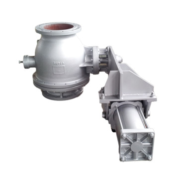 Pneumatic discharge ball valve