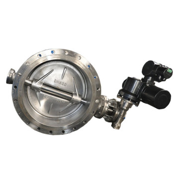 stainless steel hard sealing flanged butterfly valve