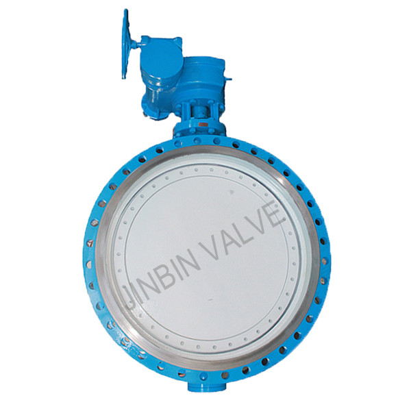 Double offset Butterfly valve with rubber seat
