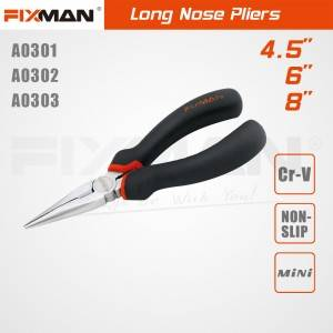 FIXMAN High Quality Industrial CR-V Long Nose Pliers Price