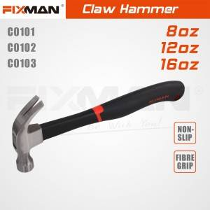FIXMAN high quality claw hammer tools made in China hammer mill