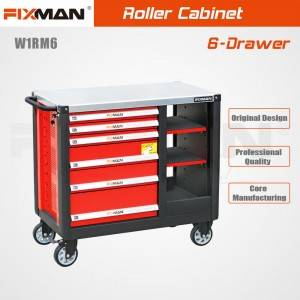 Fixman W1RM6 6 Drawer Central Lock Self Lock Mobile Workbench for Automobile Maintenance