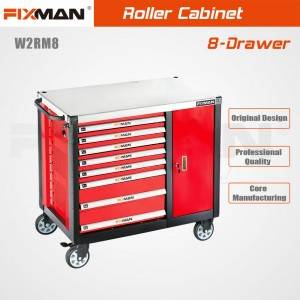 FIXMAN W2RM8 Garage Rolling Tool Box Workbench Systems 8-Drawer Toolbox With Workbench Top