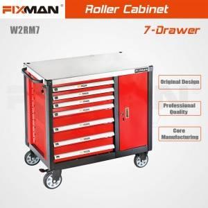FIXMAN  W2RM7 Workshop Movable Rolling Workbench 7-Drawer Mobile Workbench
