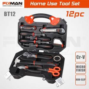 FIXMAN 12-pc Basic Multi Home Use Tool Set with Color Box