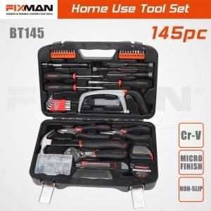 FIXMAN Home Use Tool Kit , 145 PCS Household Services Hand Tool Set