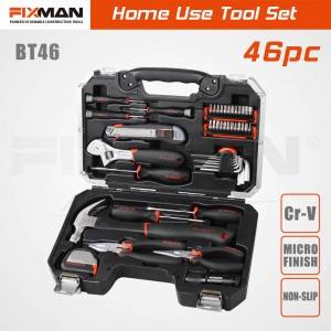 FIXMAN Homeowner Tools Kit Set 46pcs Hand Tool Set Box