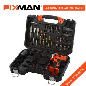 Fixman 55 Pcs High Performance Cordless Drill Tool Set with Hammer Impact Function