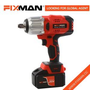 Fixman Max 20V 500N.m Brushless Impact Wrench with Torque Adjustment Setting