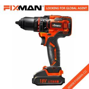China Factory 18V Professional Cordless Impact Drill with Lithium Battery