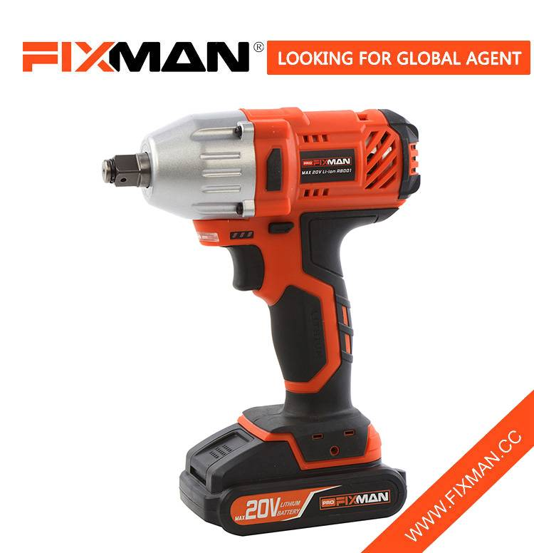 Fixman 18V Electric Impact Wrench Max Torque 300N.m Color Box Featured Image