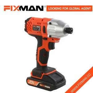 China 20V High Quality Cordless Impact Screwdriver with 1/4″ Chuck
