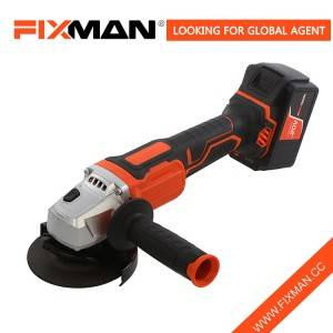 [Copy] Fixman New Design 18V Cordless Angle Grinder with 4.0Ah Lithium Battery