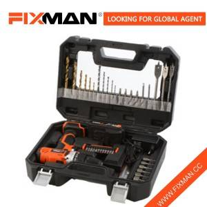 Fixman Hot Sale Professional Cordless Power Drill with Red Color