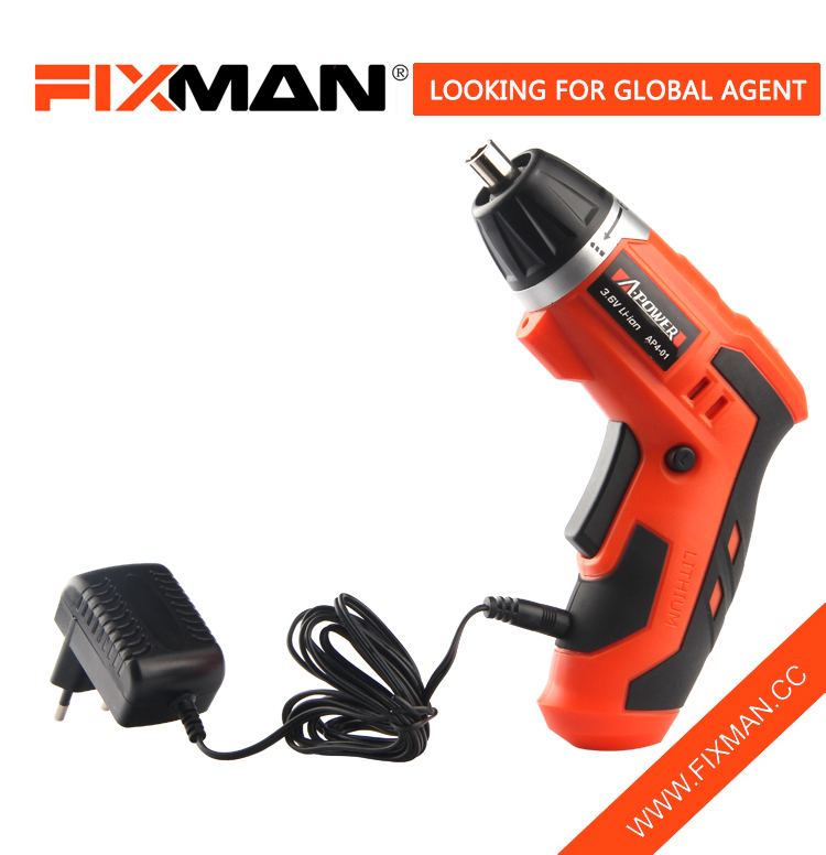 FIXMAN Hand Power Tools 3.6V Battery Operated Cordless Screwdriver Drill