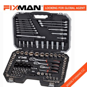 "120 PCS Car Repair Hand Tool Kit Box Set, Socket pikëllim mjet kit vendosur 1/2 ""1/4"" 3/8 """
