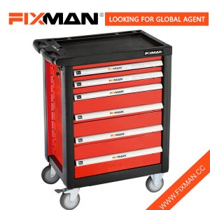 FIXMAN Professional Tool Box Roller 6-Drawer Slides Shop With Wheels Heavy Duty