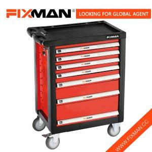 FIXMAN China Roll Around Tool Box Manufacturer 7 droo Tool Box Roller Baraza la Mawaziri