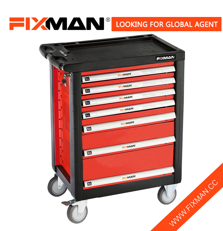 FIXMAN Çînê Roll Around Tool Box Manufacturer 7 Drawer Tool Box Roller kabîneya
