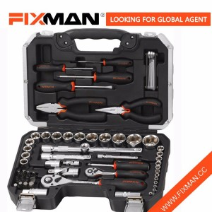 FIXMAN Mechanical Tool sets , Household Repairing Car Tool Kits Box 65 Pieces