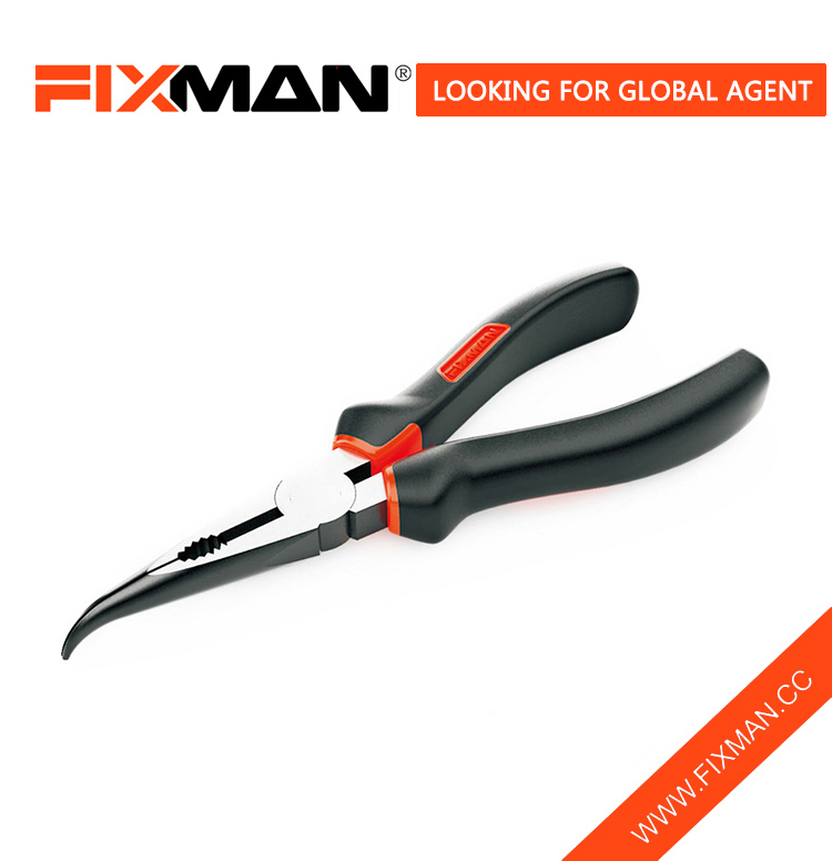 "FIXMAN Wholesale Long Curved Needle Nose Pliers Prices , 6"" & 8"""