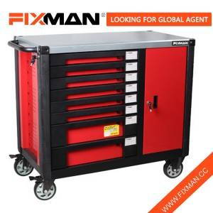 FIXMAN W2RM8 8-Drawer Hot Selling Mobile Workbench Tool Cabinet with Durable Wheel