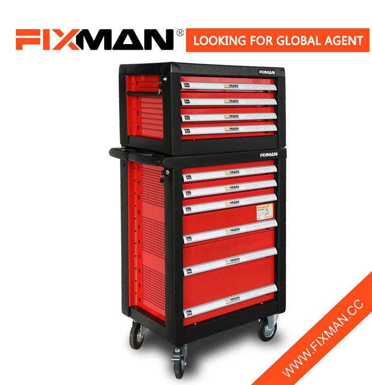 Professional 6 Drawer Garage Metal Tool Box Trolley