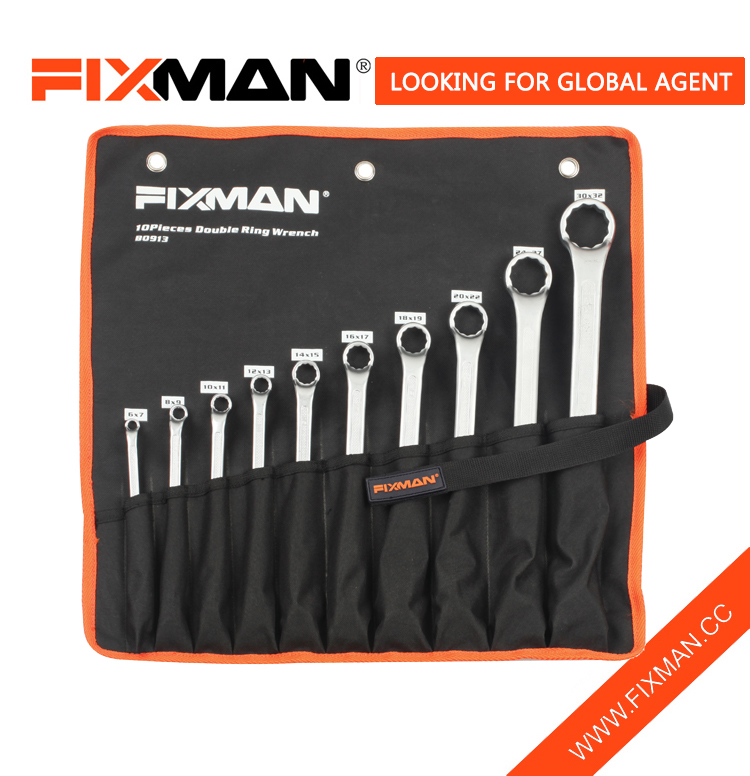 professional wrench set 10pcs double ring wrench