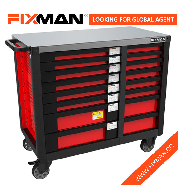 FIXMAN Mechanical Workshop 16-Drawer Mobile Workbench
