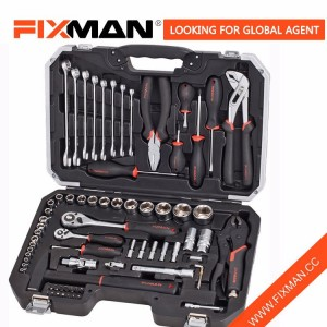 FIXMAN 72-Piece Car Tool Kit For Mechanics , Professional Complete Tool Box Sets
