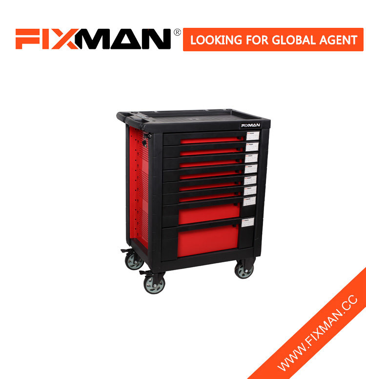 FIXMAN Good Quality Rolling Chest Tool Box Cabinet With 8-Drawers