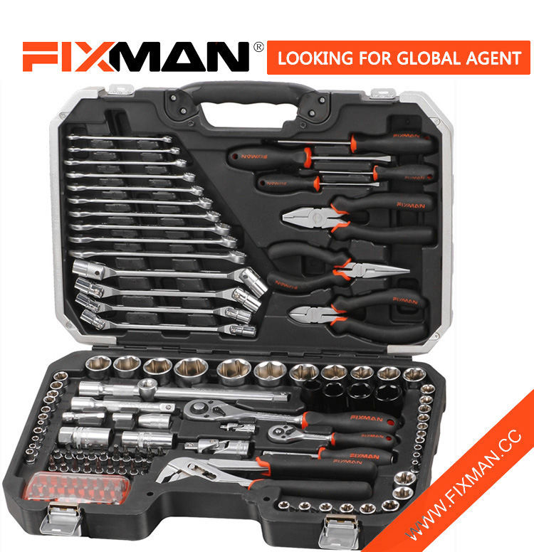 124 PCS CR-V mechanical tool combo kit