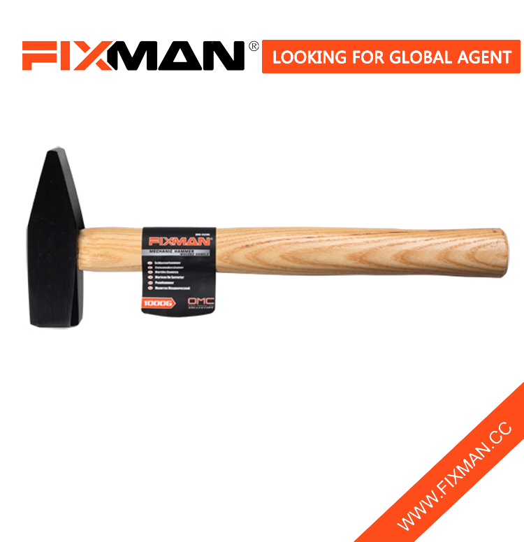 Fixman Machinist's Hammer Forged Tool, Machinist Hammer With Wooden Handle