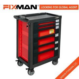 FIXMAN 6-laci Mobile Tool Box Roller Kabinet On Wheels