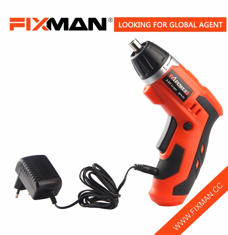 3.6V Electric Rechargeable LED Drill Screwdriver Kit Cordless