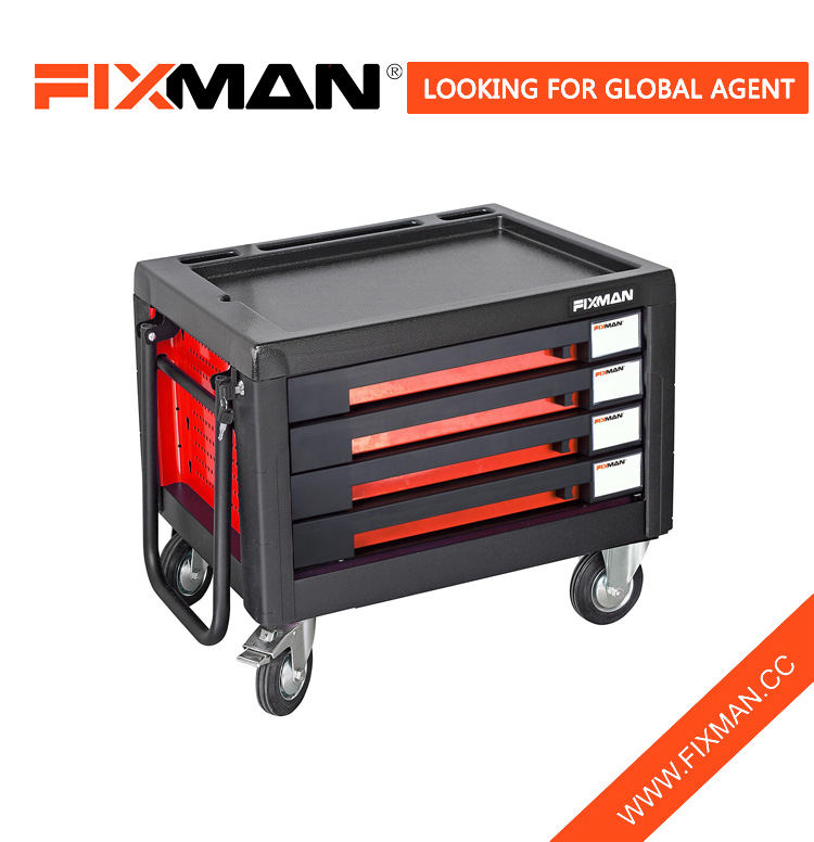 FIXMAN 4-Drawer Metal Roll Around Tool Master Chest & Cabinet