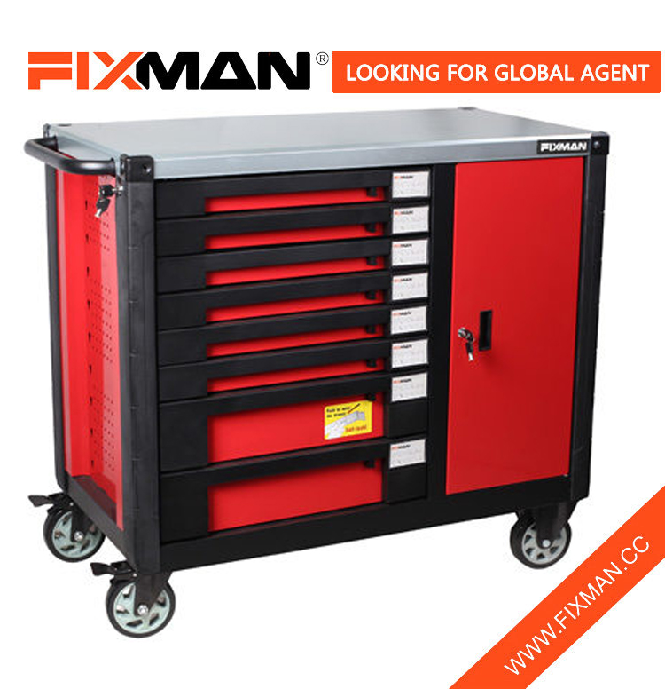 FIXMAN 8-Drawer Mobile Workbench, Used industrial Workbenches With Wheels