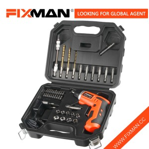 FIXMAN 3.6V 43PCS Electric sukudireba Kit Saita