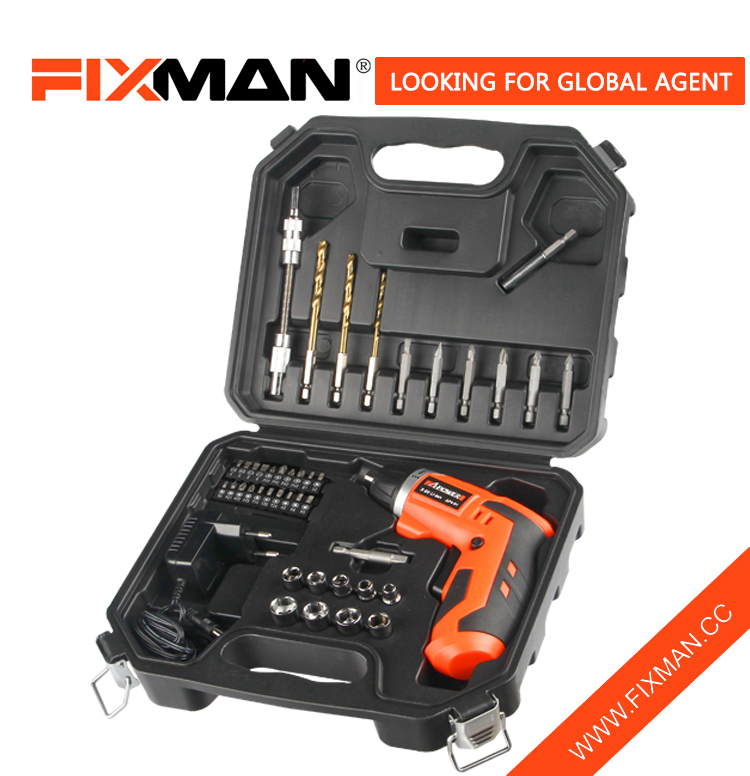 FIXMAN 3.6V 43PCS Electric screwdriver Apo Ṣeto