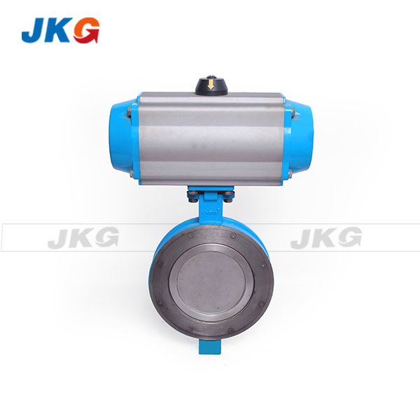"150LB Pancake Wafer Pneumatic Control Butterfly Valve with Viton Seat Stainless Steel Disc 3"" Featured Image"